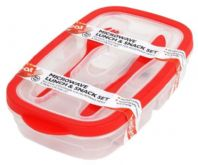Heat & Eat Lunch Box With Cutlery - Assorted Colours